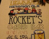 Keronian Ale Bar Poster Cross Stitch Pattern