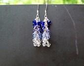 Cobalt Blue Waterfall Earrings