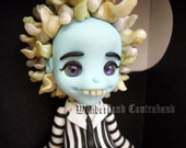 Deluxe Beetlejuice - Graveyard - ORIGINAL OOAK Miniature Sculpture - Wall Decor