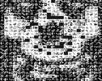 Misfits Skull photo mosaic