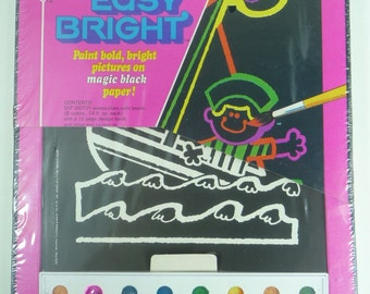 Kenner Color Corner Dip Dots Easy Bright 16 Pre-Printed Designs with Paint Sealed 1972