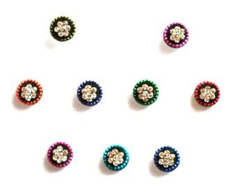 Bindi Self Adhesive Indian Dots Traditional Crystal Round