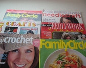 Needlecraft, Crochet, Recipes, Crafts Lot 0f 6 Back Issues Idea and Crafting Magazines