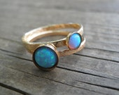 Opal Ring, Statement Rings, Gold Stacking Rings Gemstones Ring, Stacking Rings, Turquoise Ring, Opal Rings Set, Rose Quartz Ring, Onyx Ring