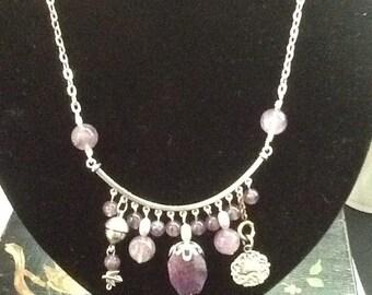 Charming Amethyst Bib necklace