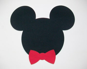 DIY No-Sew Mickey Mouse with Bowtie Applique - Iron On