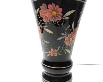 Vintage Black Amethyst Vase