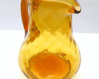Vintage Gold Glass Pitcher