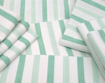 VINTAGE SHEET Fat Quarter Mint 2-tone Stripe VSGS-01