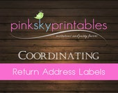 Address Labels coordinating with any Pink Sky Printables design