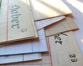 10 Vintage BIG LEDGER PAPER - Ephemera pack - Antique ledger sheets from Spain, used and blank