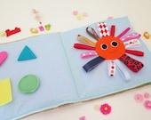 Felt book , busy Book , felt quilt book , personalized baby gift , personalized felt book , learning book , baby book , quiet book