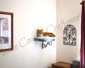 Cat Bed - STRATO - Wine Barrel Head Wall Hanging // Pet Supplies // Cat Shelves // Wall Perch //  Oak Wood // Animal Lovers