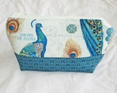 NEW Parisian Peacock Cosmetic Bag