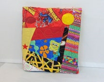 Boys Cloth Book One of a Kind Book Quiet Learning Fabric Book Embroidered Name Learn Shapes Buttons Zipper Velcro