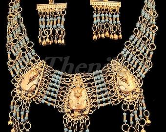 EGYPTIAN  TUTANKHAMUN SetT of Necklce&Earrings