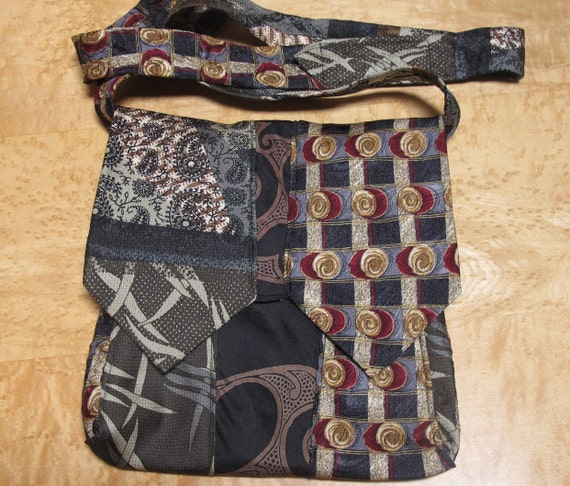 Recycled Silk Tie Purse