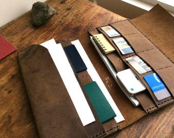 Ultimate Travel Wallet / Leather Wallet / Family Travel Document Holder / Organizer / Oversized Wallet Ticket Holder / Leather Passport case