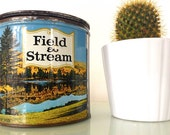 Vintage Field and Stream Tobacco Tin with Lid