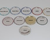 "1""  Rhinestone Setting Blank - Set of 5 - You pick colors"