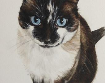 CUSTOM Cat Portraits - an original watercolor painting by Jodi J. Callahan
