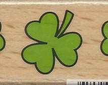 Shamrocks Stamp  --  NEW  -- Wood Mounted Rubber Stamp -- Studio G Brand --  (#1184)