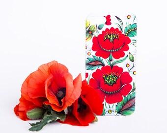 Big Poppies iPhone Floral Case - iPhone 6 / 6 Plus Case - iPhone 5 / 5S Case - iPhone 4 Case - HTC - Samsung - Lenovo - Sony - Nokia