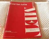 Vintage Cosi Fan Tutte Opera LIBRETTO MET Metropolitan Opera G. Schirmer 1951