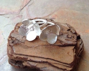 Flores- Sterling Silver Rings - Stackable Flower Rings