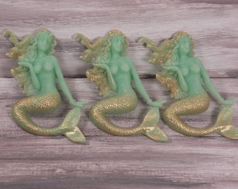 golden tailed mermaids set of 2