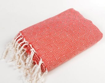 50% sale diamond towel, red diamond towel, beach towel, fouta towel, peshtemal, swim towels, turkish bath towel, sport spa yoga towel, pareo