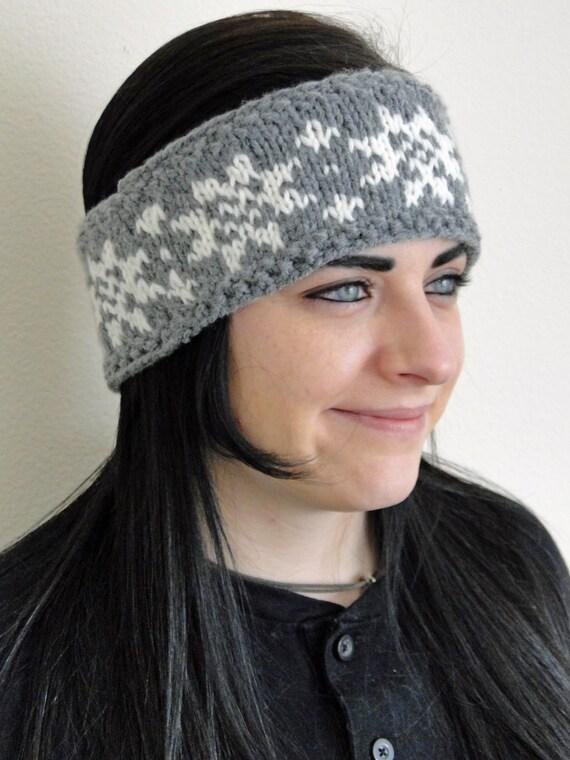 Knit Heraldic Fair Isle Headband