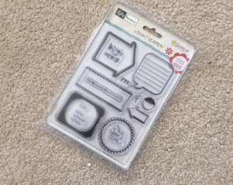 Clear Stamp Set, Dialogue Stamps, Once Upon a Time Stamp, Transparent Cling Stamps with Scrapbooking Prompts