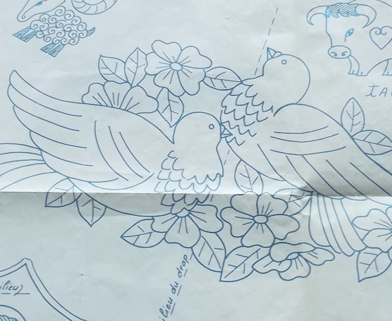 Vintage french journal embroidery patterns by