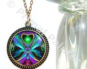 """Heart Chakra Jewelry, Twin Flames Necklace, Reiki Angel Pendant  """"Unconditional Love"""""""