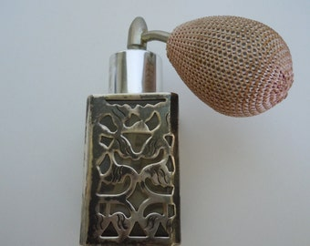 Vintage Sterling Silver Overlay Perfume Atomizer Perfume Bottle