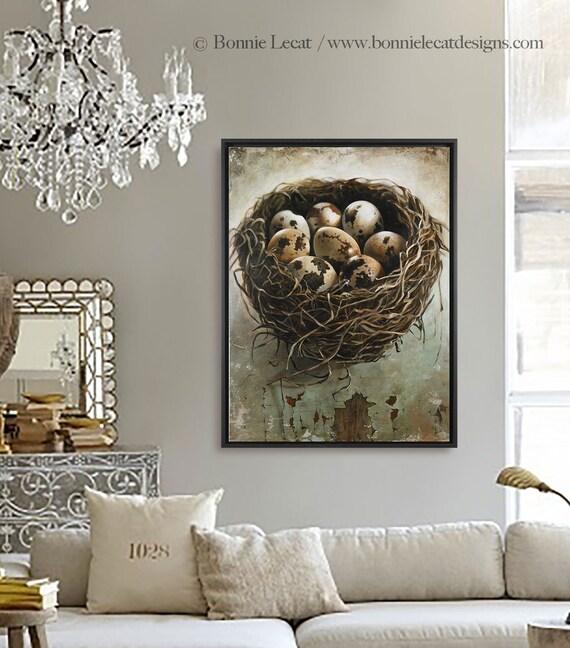 Bird Nest With Eggs Wall Art Large Canvas Print Bird Nest Home Decorators Catalog Best Ideas of Home Decor and Design [homedecoratorscatalog.us]