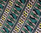 Guatemalan fabric in Quetzal Stripe