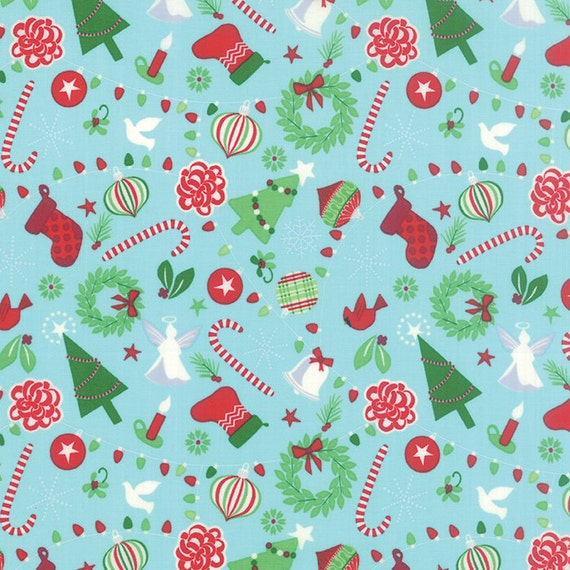 Jingle Rejoice In Ice By Kate Spain For Moda Fabrics