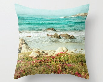 Pillow Cover, Beach, Decorative Throw Pillow Cover, California, fPOE, 16x16, 18x18, 20x20