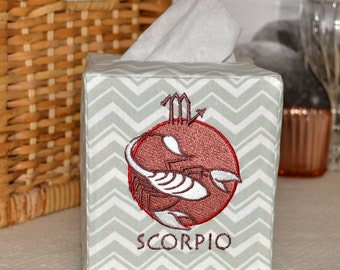 50% OFF!  Zodiac Signs Scorpio Tissue Box Cover