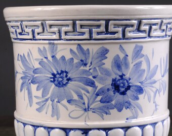 Blue and White Italian Cachepot / Planter