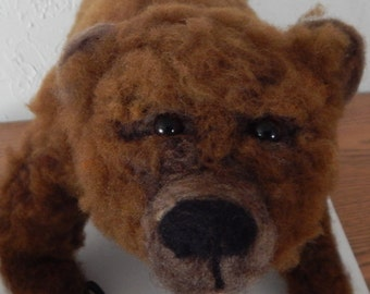 Grizzly Bear Needle Felted Sculpture