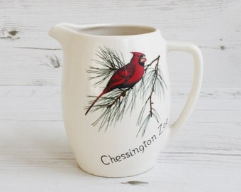 Vintage Souvenir Jug - Creamer Milk Pitcher Red Bird Chessington Zoo Kitchenware