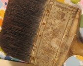 Vintage Extra Large Horse Hair Wood Handle Industrial Paint Brush