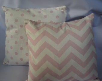 CLEARANCE Premier Prints Zig Zag Bella Pink pillow covers