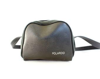 Vintage Large Black Soft Polaroid Camera Carry Case