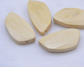 10 Natural wood beads unfinished wood bead irregular polygon wood unfinished beads 22x43mm