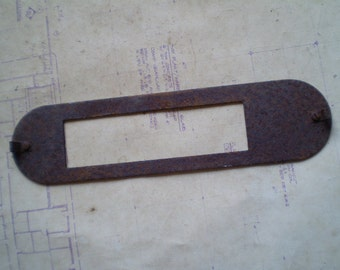 Rusty Metal Panel or Part - Industrial Salvage - Found Object for Assemblage, Sculpture or Altered Art