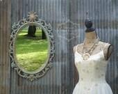 S H A B B Y, Chippy Turquoise Vanity Dressing Mirror Nursery